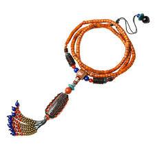 Этническое ожерелье макси для женщин цветная каменная ...