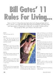 bill gates rules you will never learn in school video my bill gates 11 rules you will never learn in school video