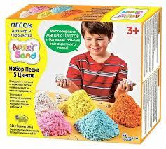 <b>Кинетический песок Angel</b> Sand 5 цветов — купить по выгодной ...