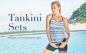 <b>CharmLeaks Womens</b> Two Piece <b>Tankini</b> Tribal Tummy Control ...