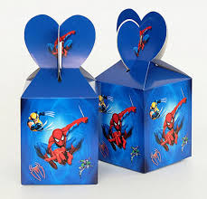 <b>6pcs</b>/lot Spiderman theme Cartoon paper bags <b>baby shower</b> ...