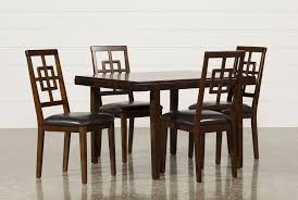 Names Of Dining Room Furniture Pieces Brown Veneer Dining Room Furniture Living Spaces