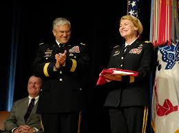 u s department of defense photo essay u s army gen ann e dunwoody proudly smiles after receiving a flag from chief