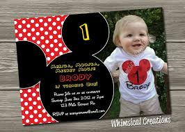 mickey mouse first birthday invitations com designs mickey mouse first birthday invitations