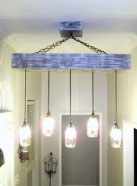 rectangle 5 mason jar ceiling light chandelier w wood canopy out of the betty 8 light mason jar