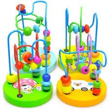 <b>1pcs Children Kids Baby</b> Colorful Wooden Mini Around Beads ...