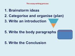 essay writing processthe essay writing process  lt ul gt  lt li gt brainstorm ideas  lt  li gt
