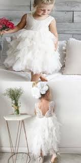 White Lace Long Sleeve Flower <b>Girl</b> Dresses, <b>Tulle Little Girl</b> ...