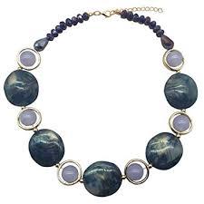 JHWZAIY <b>Acrylic</b> Crystal <b>Necklace</b> for <b>Women</b> Beads <b>Statement</b>