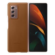 Кожаный <b>чехол</b> для <b>Samsung Galaxy</b> Z Fold2 коричневый - купить ...
