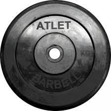 <b>MB</b> Barbell <b>MB</b>-AtletB31-10 <b>Диск обрезиненный Atlet</b>, 10 кг 31 мм ...