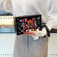 harajuku retro clutch bags clutches women mini purse ladies lolita strawberry printed handbags messenger shoulder for girls