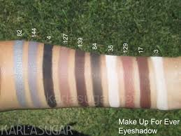 make up for ever mufe eyeshadow swatches 82 144 4
