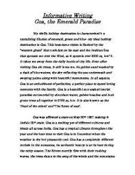 informative essay  goa  the emerald paradise   gcse english    informative essay  goa  the emerald paradise