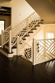 Custom Stair Railing Wooden Baluster Custom Stairs Artistic Stairs