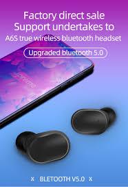 <b>A6S</b> Wireless Earphone Sports Earbuds <b>Bluetooth 5.0</b> TWS ...