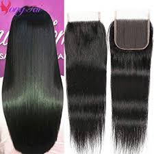 Malaysian 5X5 Straight Lace Closure 9A Virgin Straight Human <b>Hair</b> ...