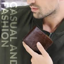 CONTACT'S Genuine <b>Crazy Horse Leather</b> Men Wallets <b>Vintage</b> ...