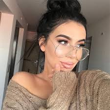 2018 <b>fashion Unisex</b> Big Round Oversize Clear lens Chic Eye ...