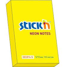 <b>Бумага с липким слоем</b> HOPAX STICK'N неоновая, 100 листов