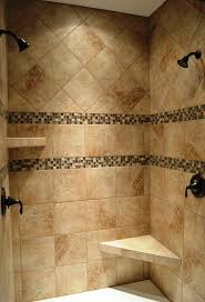 ideas shower systems pinterest: dual head custom ceramic tile shower with oil rubbed bronze fixtures