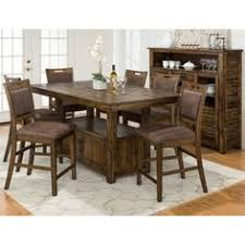 tabacon counter height dining table wine: jofran cannon valley dining table with storage base the distressed jofran cannon valley dining table