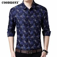 <b>COODRONY Long Sleeve</b> Shirt Men Clothing 2018 Autumn New ...