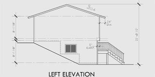 Split Level House Plans  Small House Plans House side elevation view for Split level house plans  small house plans  house