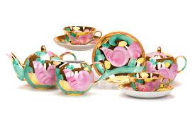 <b>Сервиз чайный</b> Дулево Тюльпан Розовая птица, <b>15 предметов</b> ...