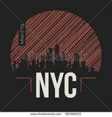 New York City graphic, t-shirt design, tee print, typography, emblem ...