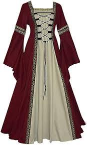 drrerytu Renaissance Medieval Costumes Long Sleeve <b>Square</b> ...