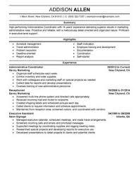 best administrative coordinator resume example   livecareeradministrative coordinator resume example