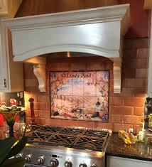 Kitchen Tile Backsplash Murals Italian Tile Murals Tuscany Backsplash Tiles