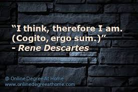 Image result for i think i am rene descartes