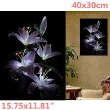 5D <b>Diamond Flowers</b> IN Darkness Painting <b>Embroidery</b> Cross Stitch ...