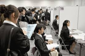 international students face job hunting hurdles in the international students gather for job interviews at a seminar held by the kansai economic federation in