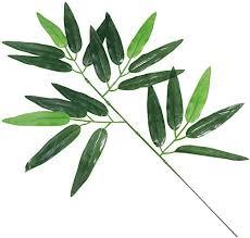 VOSAREA 12pcs Artificial Bamboo Leaves Fake ... - Amazon.com