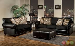 Of Living Rooms With Black Leather Furniture Paris 1 Contemporary Black Leather Living Room Furniture Sofa Set