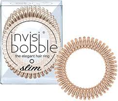 <b>invisibobble SLIM</b> Hair Ties, <b>Bronze Me</b> Pretty, 3 Pack - No Kink ...