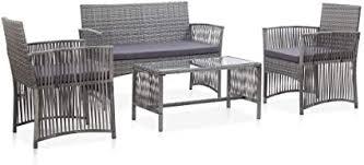 Tidyard <b>4</b>-<b>Piece Garden Lounge</b> Set Garden Sofa Set Balcony ...