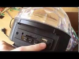 Обзор цветомузыки MP3 <b>LED Magic</b> Ball Light - YouTube