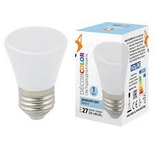 <b>Лампа</b> светодиодная (UL-00005804) <b>Volpe E27 1W 6000K</b> ...