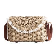 New <b>Women Tassel Straw</b> Bags Bohemian <b>Female</b> Vintage Rattan ...