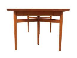 vodder dining table sibast danish six legged extendable dining table by arne vodder for sibast