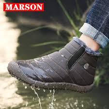 <b>MARSON Men Winter</b> Shoes Solid 4 Colors Men's Snow Boots ...
