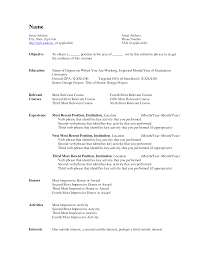 resume builder  free  seangarrette cosample blank resume builder in ms word with relevant courses and activities for job seeker   resume builder    examples