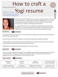 ૐ radiant life yoga school hath vinyasa yoga teacher training hi yogis i have been working on different projects and have needed a few different formats for my resume and bio this is the resume format that i have