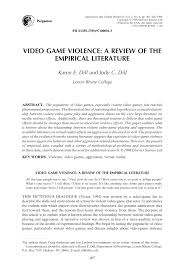 video game violence pdf available