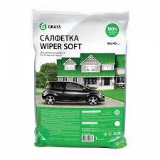 <b>Салфетка</b> WIPER SOFT (<b>100</b>% <b>микрофибра</b> 40*40) упакованная