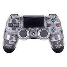 Glossy <b>Transparent Clear Playstation 4 PS4</b> Dual Shock 4 Wireless ...